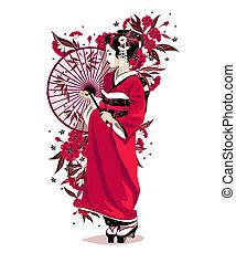 ragazza, giapponese
