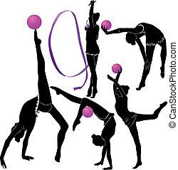 ragazza, ginnasta, atleta