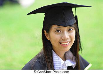 ragazza, graduazione