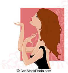 ragazza, illustrazione