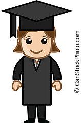 ragazza, laureato