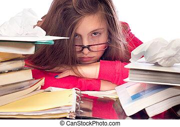 ragazza, lavoro, sommerso, scuola