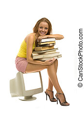 ragazza, libri