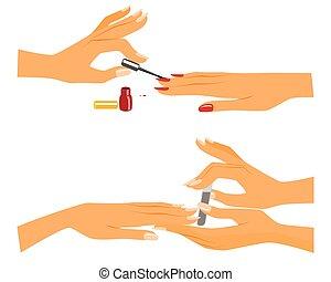 ragazza, manicure