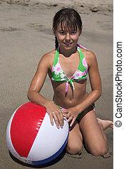 ragazza, spiaggia