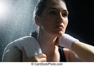ragazza, sport