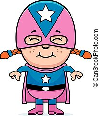 ragazza, superhero