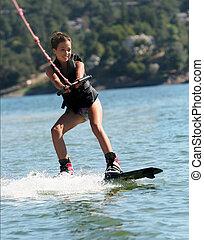 ragazza, wakeboarding