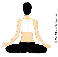 ragazza, yoga