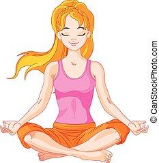 ragazza, yogi