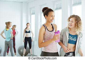 ragazze, secondo, allenamento