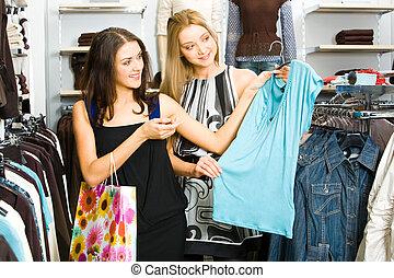ragazze, shopping