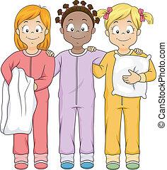 ragazze, sleepwear