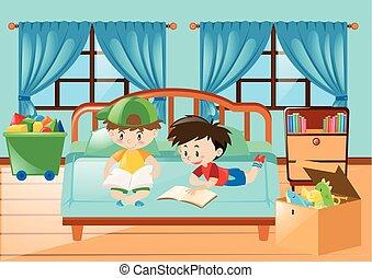 Lettura letto ragazzo circa letto draghi libro lettura - Libro amici di letto ...