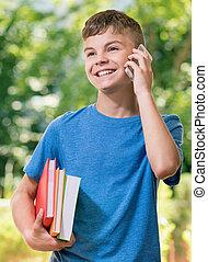 ragazzo adolescente, telefono