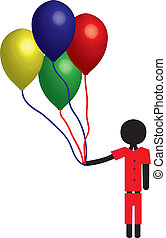 ragazzo, balloon