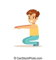 ragazzo, differente, attivo, attività, sedere, sport, ups, ...