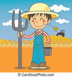 ragazzo, giovane, contadino
