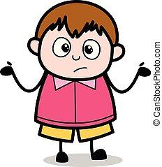 ragazzo, -, grasso, vettore, illustrazione, neglecting, cartone animato, adolescente
