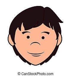 ragazzo, illustrazione, vettore, adolescente, cartone animato, icona