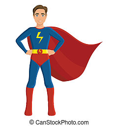 ragazzo, in, superhero, costume