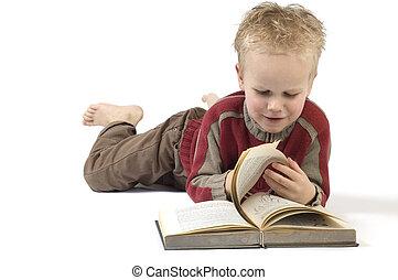 ragazzo, libro, lettura, 6