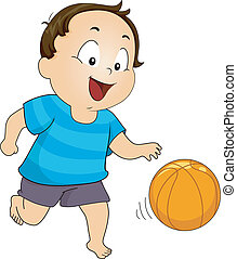 ragazzo, pallacanestro