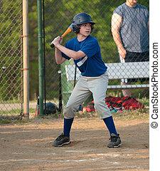 ragazzo, pastella, baseball