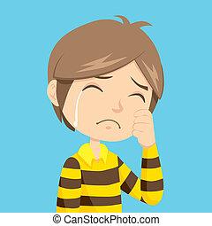 ragazzo piangendo