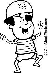 ragazzo, pirat, ballo