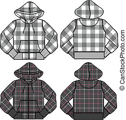ragazzo ragazza, moda, hoodies
