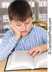 ragazzo, scuola, studiare