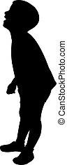 ragazzo, silhouette