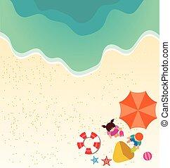 ragazzo, spiaggia sabbia, ragazza, gioco