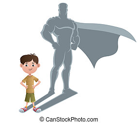 ragazzo, superhero, concetto, 2