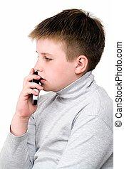 ragazzo, telefono