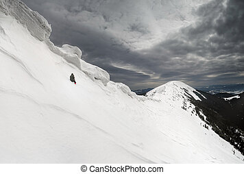 rage or courage - rage photographer under the snow cornices
