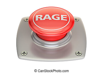 Rage Red Button, 3D rendering