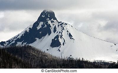 Ragged Pointed Mountain Peak Mt. Washington Oregon Cascade Range