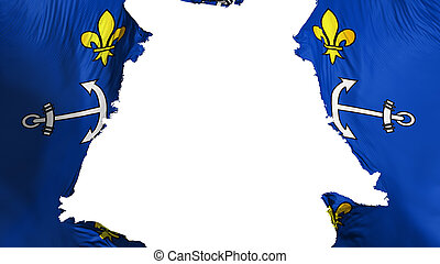 Ragged Port Louis city flag - Ragged Port Louis city, ...