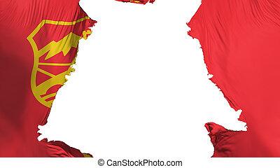 Ragged Skopje city flag - Ragged Skopje city, capital of ...