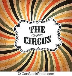 raggi, colorato, manifesto, astratto, circo, fondo