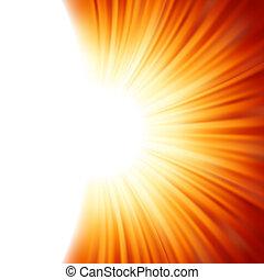 raggi, eps, luce sole, tenplate., 8, sunburst