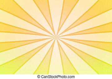 raggi, giallo, fondale, struttura