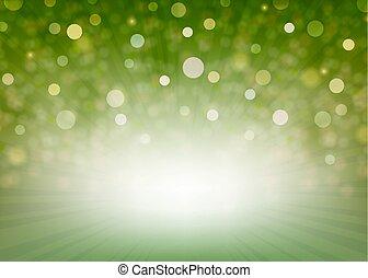 raggi luminosi, sfondo verde