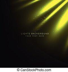 raggi luminosi, verde