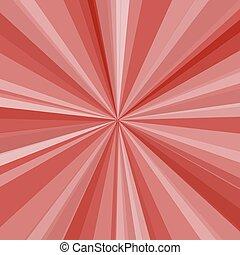 raggi, raggi, illustrazione, fondo., luminoso, vettore, disegno, tuo, rosso