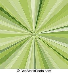 raggi, raggi, illustrazione, fondo., luminoso, vettore, verde, disegno, tuo