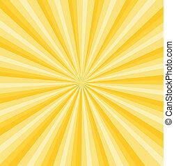raggi, sfondo giallo