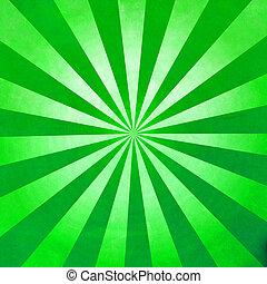 raggi, sfondo verde, struttura